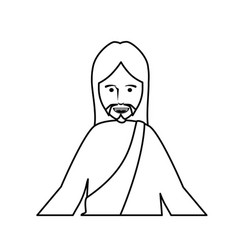 Jesus christ man icon vector