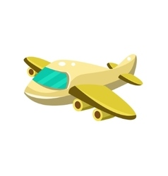 Little plane toy aircraft icon vector