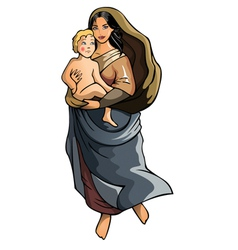 Madonna with child vector image vector image