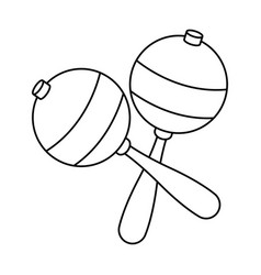 Maraca instrument brazilian music percussion vector