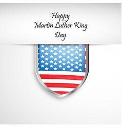 Martin luther king day background vector