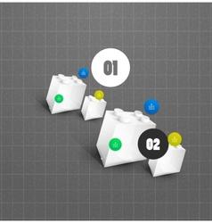 Modern toy blocks option steps banner vector