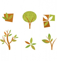 nature logos 08 autumn leaves vector image