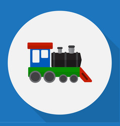 Of automobile symbol on train vector
