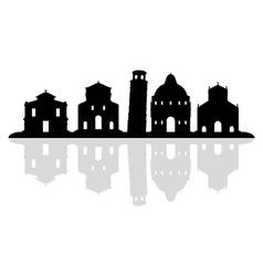 pisa skyline vector image vector image