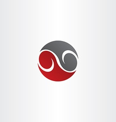 red black circle infinity symbol vector image vector image