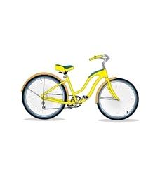 Retro bicycle background vector