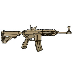Sand automatic gun vector