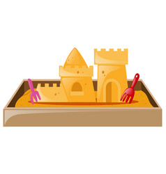 sand castle in sandbox vector image vector image