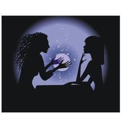 Silhouette fortune-teller vector