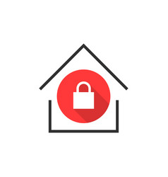 simple locked house icon vector image