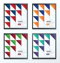 triangle pattern design 2 color set vector image