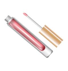 Tube with lip gloss vector