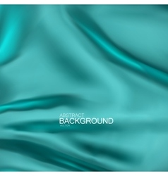 Turquoise silk fabric vector image vector image