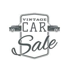 Vintage classic car sale label template vector