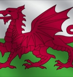 Wales flag vector