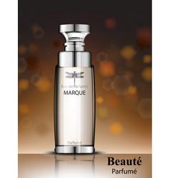 women perfume bottle realistic product vector image