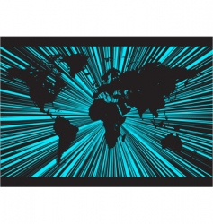 world rays background vector image vector image