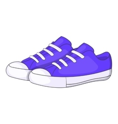 Womens purple sneakers icon cartoon style vector