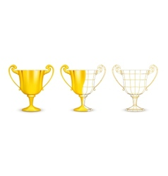 Cups vector image