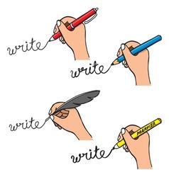 doodle handwriting vector image