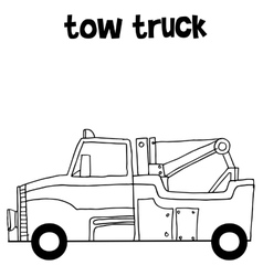 Tow truck collection art vector image