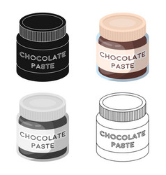 chocolate paste icon in cartoon style isolated on vector image