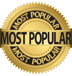 Most popular gold label vector
