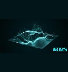 Abstract 3d big data plot visualization vector