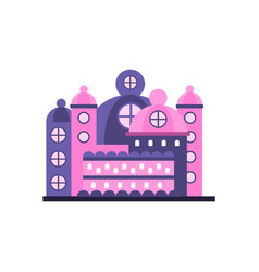 Colorful majestic palace building vector