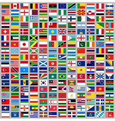 216 Flags all world vector image