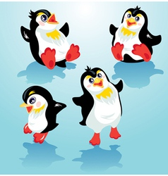 Penguins set 380 vector