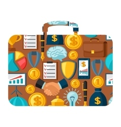 Business and finance concept from icons in shape vector