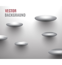 Abstract backgraundmetal ovals soaring near the vector