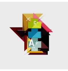Paper style abstract geometric shapes with vector