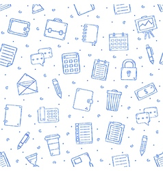 Office work pattern bllue icons vector