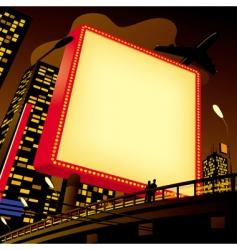 advertising billboard in the city vector image vector image