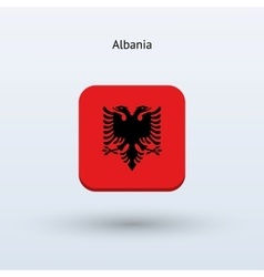 Albania flag icon vector