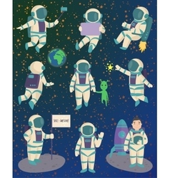 astronaut character pose vector image vector image
