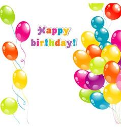 Balloons birthday card vector
