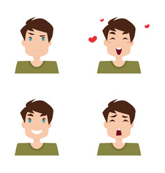 boy expression faces vector image vector image