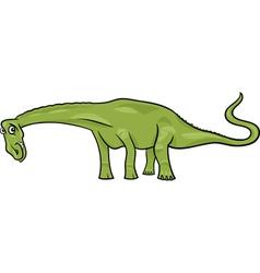 cartoon of diplodocus dinosaur vector image vector image