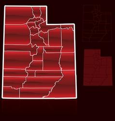 counties of utah vector image