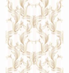 Damask golden pattern handmade vector