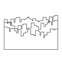 Figure city scene with building image vector