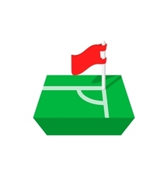 Flag in corner of the cartoon icon vector image