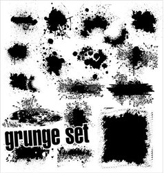 grunge splashes set vector image vector image