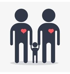 happy gay boy family icon vector image