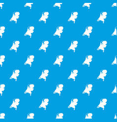 holland map pattern seamless blue vector image vector image