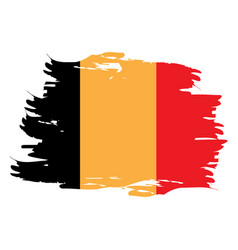 Isolated belgian flag vector